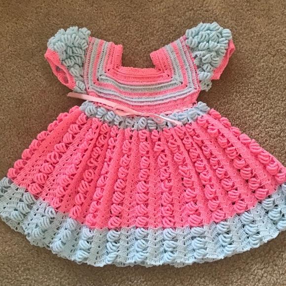 Dresses Handmade Crochet Dress Baby Girl Poshmark